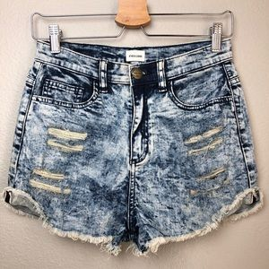 Pants - Distressed Denim Shorts in Small NWOT